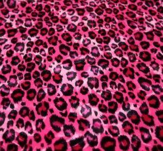 Hot pink leopard print velvet   Vandella Costumes