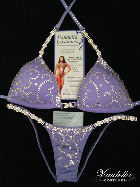 ddadfb609a style 1533 blue bikini competition suit with rhinestone connectors