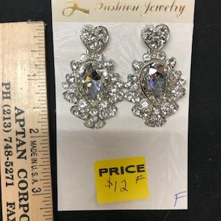 E-218 crystal rhinestone earrings swim suit competition jewelry