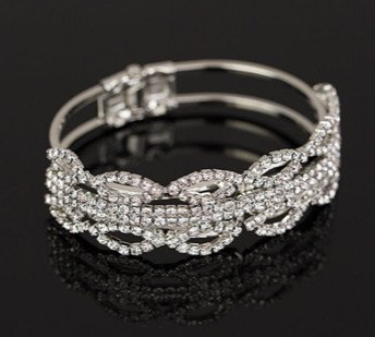 e04946350d5 B47 crystal rhinestone cuff bracelet jewelry for bikini competition ...