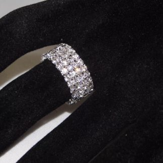 c609859c1cf Crystal 4-row rhinestone stretch Ring jewelry for bikini competition and  figure competition