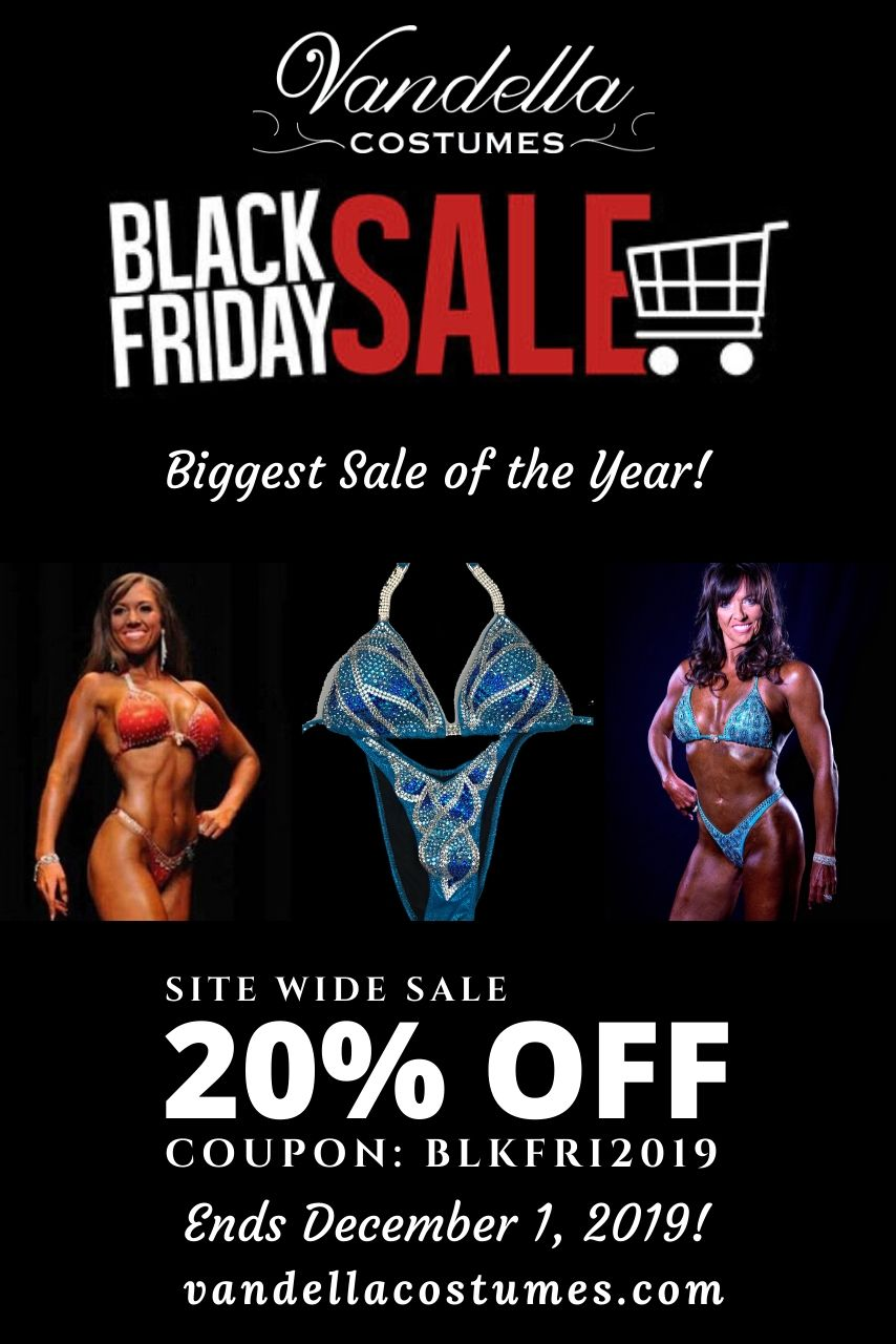 Black Friday Blowout Sale - Competition Bikini Suits, Men's Psoing Trunks and Accessories